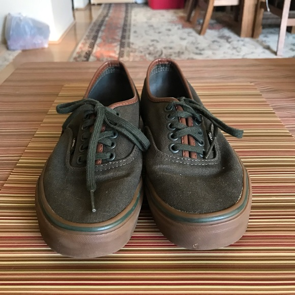 vans authentic dark green